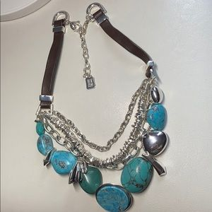 Robert Lee Morris turquoise layered necklace